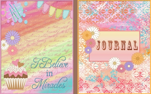 Pretty Flower Journal front and Back page