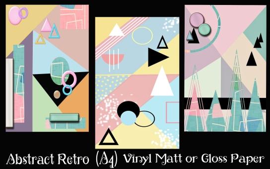 3 Abstract Retro A4 size