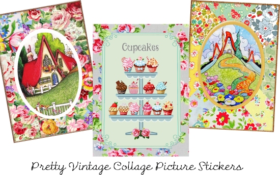 3 Pretty Vintage collages