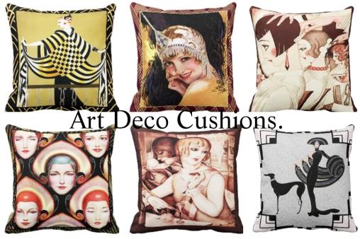 6 Art Deco Cushions 1