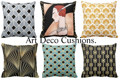 6 Art Deco Cushions 2