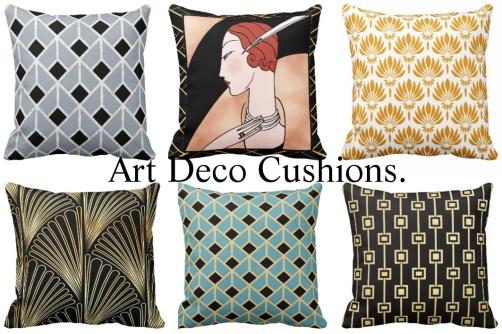 6 Art Deco Cushions 2